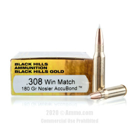 Image For 20 Rounds Of 180 Grain Polymer Tipped Boxer Brass 308 Win Black Hills Ammunition Ammunition