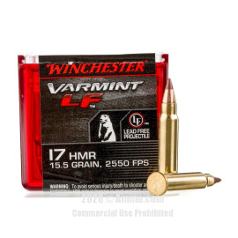 Image For 50 Rounds Of 15.5 Grain Polymer Tipped Rimfire Brass 17 HMR Winchester Ammunition