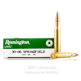 Image For 200 Rounds Of 150 Grain MC Boxer Brass 30-06 Remington Ammunition