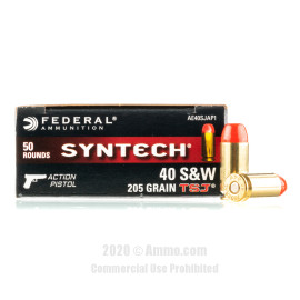 Image For 500 Rounds Of 205 Grain TSJ Boxer Brass 40 Cal Federal Ammunition