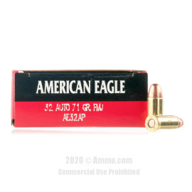 Image For 1000 Rounds Of 71 Grain FMJ Boxer Brass 32 ACP Federal Ammunition