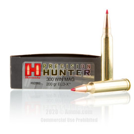 Image For 20 Rounds Of 200 Grain ELD-X Boxer Brass 300 Win Mag Hornady Ammunition