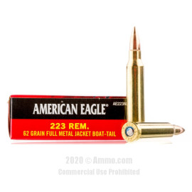 Image For 500 Rounds Of 62 Grain FMJ-BT Boxer Brass 223 Rem Federal Ammunition