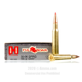 Image For 20 Rounds Of 165 Grain GMX Boxer Brass 30-06 Hornady Ammunition