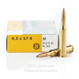 Image For 20 Rounds Of 131 Grain SP Boxer Brass 6.5x57R Sellier and Bellot Ammunition