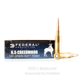 Image For 200 Rounds Of 140 Grain JSP Boxer Brass 6.5 Creedmoor Federal Ammunition