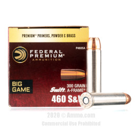 Image For 20 Rounds Of 300 Grain SP Boxer Brass 460 S&W Federal Ammunition