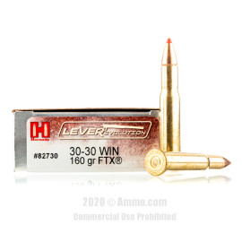 Image For 20 Rounds Of 160 Grain FTX Boxer Brass 30-30 Hornady Ammunition