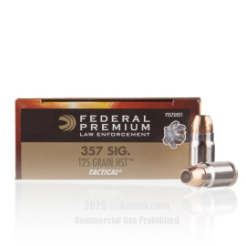Image For 50 Rounds Of 125 Grain JHP Boxer Nickel-Plated Brass 357 Sig Federal Ammunition