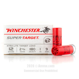 Image For 250 Rounds Of 1 oz. #9 Shot 12 Gauge Winchester Ammunition
