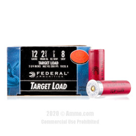 Image For 25 Rounds Of 7/8 oz. #8 Shot 12 Gauge Federal Ammunition