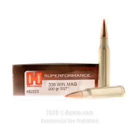 Image For 20 Rounds Of 200 Grain Polymer Tipped Boxer Brass 338 Win Mag Hornady Ammunition