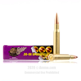 Image For 500 Rounds Of 145 Grain FMJ Berdan Brass Plated Steel 30-06 Golden Bear Ammunition