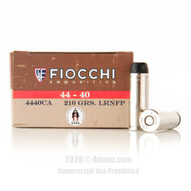Image For 50 Rounds Of 210 Grain LRN Boxer Nickel-Plated Brass 44-40 Win Fiocchi Ammunition