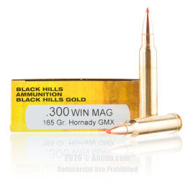 Image For 20 Rounds Of 165 Grain GMX Boxer Brass 300 Win Mag Black Hills Ammunition Ammunition