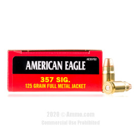 Image For 50 Rounds Of 125 Grain FMJ Boxer Brass 357 Sig Federal Ammunition