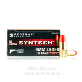 Image For 50 Rounds Of 150 Grain Specialty Boxer Brass 9mm Federal Ammunition