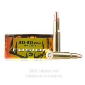 Image For 200 Rounds Of 150 Grain Fusion Boxer Brass 30-30 Federal Ammunition
