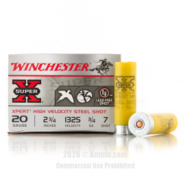 Image For 25 Rounds Of 3/4 oz. #7 Shot 20 Gauge Winchester Ammunition