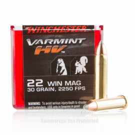 Image For 50 Rounds Of 30 Grain V-MAX Rimfire Brass 22 WMR Winchester Ammunition