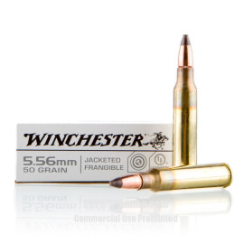 Image For 20 Rounds Of 50 Grain Frang. Boxer Brass 5.56x45 Winchester Ammunition