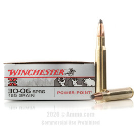 Image For 20 Rounds Of 165 Grain PSP Boxer Brass 30-06 Winchester Ammunition