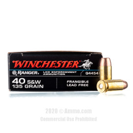 Image For 500 Rounds Of 135 Grain Frang. Boxer Brass 40 Cal Winchester Ammunition