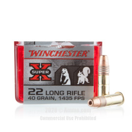Image For 100 Rounds Of 40 Grain CPHP Rimfire Brass 22 LR Winchester Ammunition