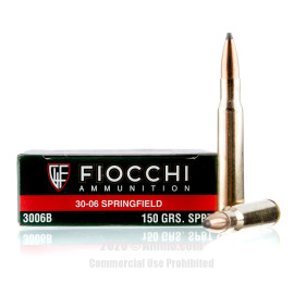 Image For 20 Rounds Of 150 Grain SPBT Boxer Brass 30-06 Fiocchi Ammunition