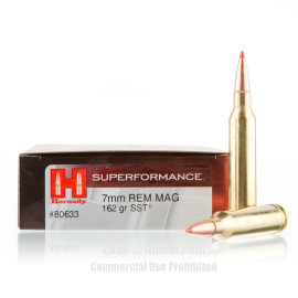 Image For 20 Rounds Of 162 Grain SST Boxer Brass 7mm Rem Magnum Hornady Ammunition