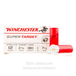 Image For 250 Rounds Of 1 oz. #7-1/2 Shot 12 Gauge Winchester Ammunition
