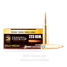 Image For 20 Rounds Of 69 Grain HPBT Boxer Brass 223 Rem Federal Ammunition
