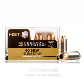 Image For 20 Rounds Of 180 Grain JHP Boxer Nickel-Plated Brass 40 Cal Federal Ammunition