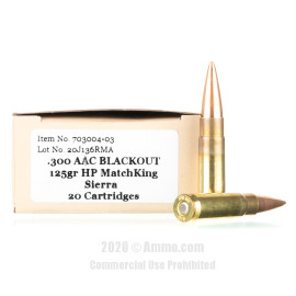 Image For 20 Rounds Of 125 Grain OTM Boxer Brass 300 Blackout Red Mountain Arsenal Ammunition