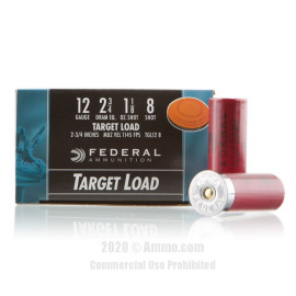 Image For 250 Rounds Of 1-1/8 oz. #8 Shot 12 Gauge Federal Ammunition