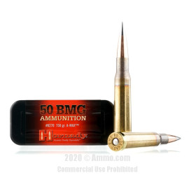 Image For 100 Rounds Of 750 Grain A-MAX Match Boxer Brass 50 BMG Hornady Ammunition