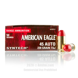 Image For 500 Rounds Of 230 Grain TSJ Boxer Brass 45 Auto Federal Ammunition
