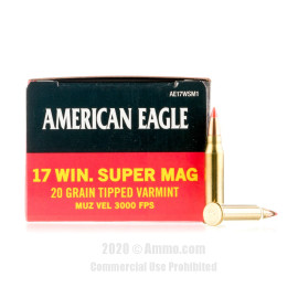 Image For 50 Rounds Of 20 Grain Polymer Tipped Rimfire Brass 17 WSM Federal Ammunition