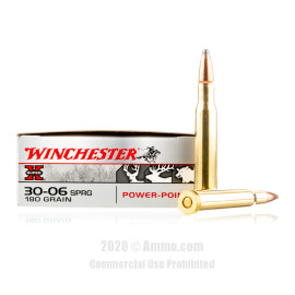 Image For 20 Rounds Of 180 Grain PP Boxer Brass 30-06 Winchester Ammunition