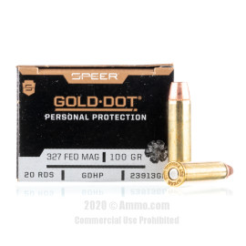 Image For 20 Rounds Of 100 Grain JHP Boxer Brass 327 Fed Mag Speer Ammunition