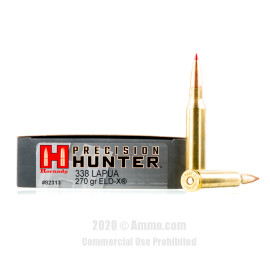 Image For 20 Rounds Of 270 Grain ELD Boxer Brass 338 Lapua Hornady Ammunition
