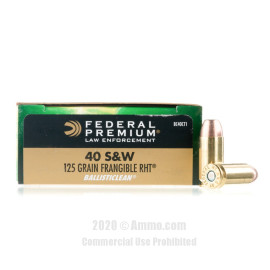 Image For 50 Rounds Of 125 Grain Frang. Boxer Brass 40 Cal Federal Ammunition