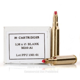 Image For 20 Rounds Of Blanks Boxer Brass 5.56x45 Prvi Partizan Ammunition