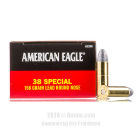 Image For 1000 Rounds Of 158 Grain LRN Boxer Brass 38 Special Federal Ammunition