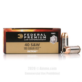 Image For 50 Rounds Of 180 Grain JHP Boxer Nickel-Plated Brass 40 Cal Federal Ammunition