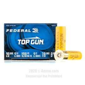 Image For 25 Rounds Of 7/8 oz. #9 Shot 20 Gauge Federal Ammunition