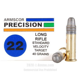 Image For 5000 Rounds Of 40 Grain LS Rimfire Brass 22 LR Armscor Ammunition
