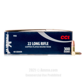 Image of CCI 22 LR Ammo - 300 Rounds of 40 Grain CPRN Ammunition