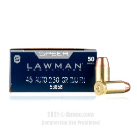 Image of Speer 45 Auto Ammo - 50 Rounds of 230 Grain TMJ Ammunition