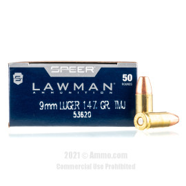 Image of Speer 9mm Ammo - 50 Rounds of 147 Grain TMJ Ammunition